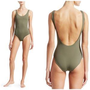 Onia Kelly One Piece Swimsuit Swim Forest Green